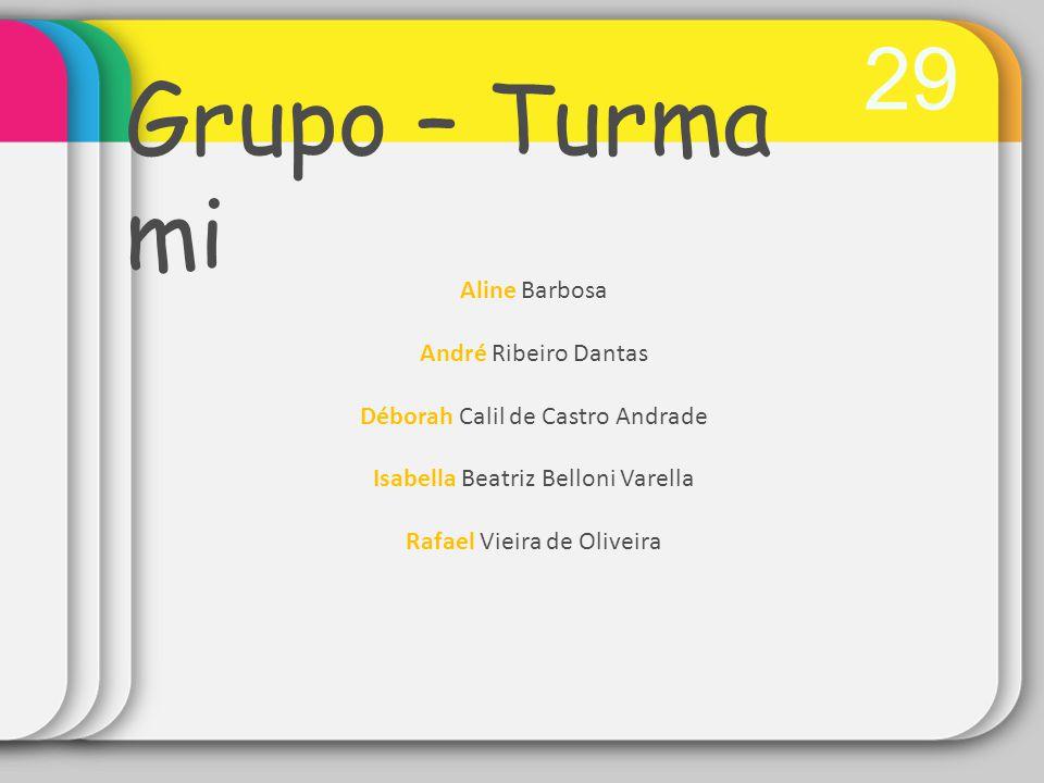 Grupo – Turma mi 29 Aline Barbosa André Ribeiro Dantas