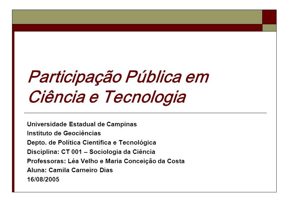 Participação Pública em Ciência e Tecnologia