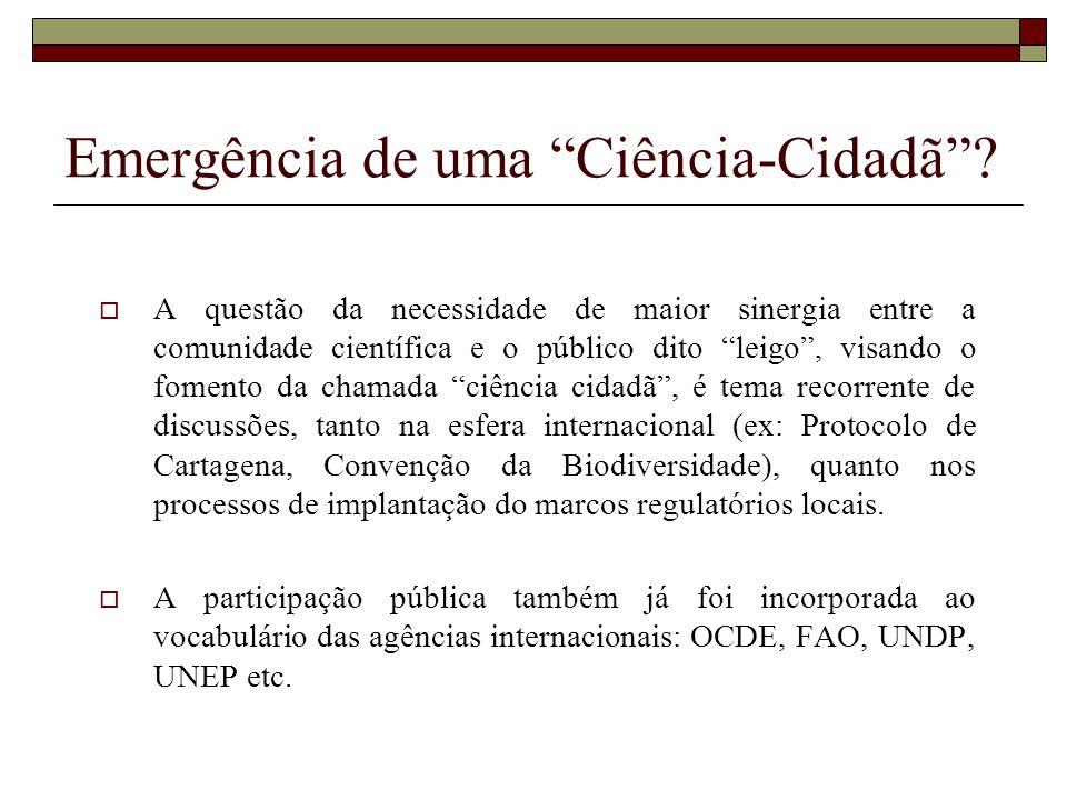 Emergência de uma Ciência-Cidadã