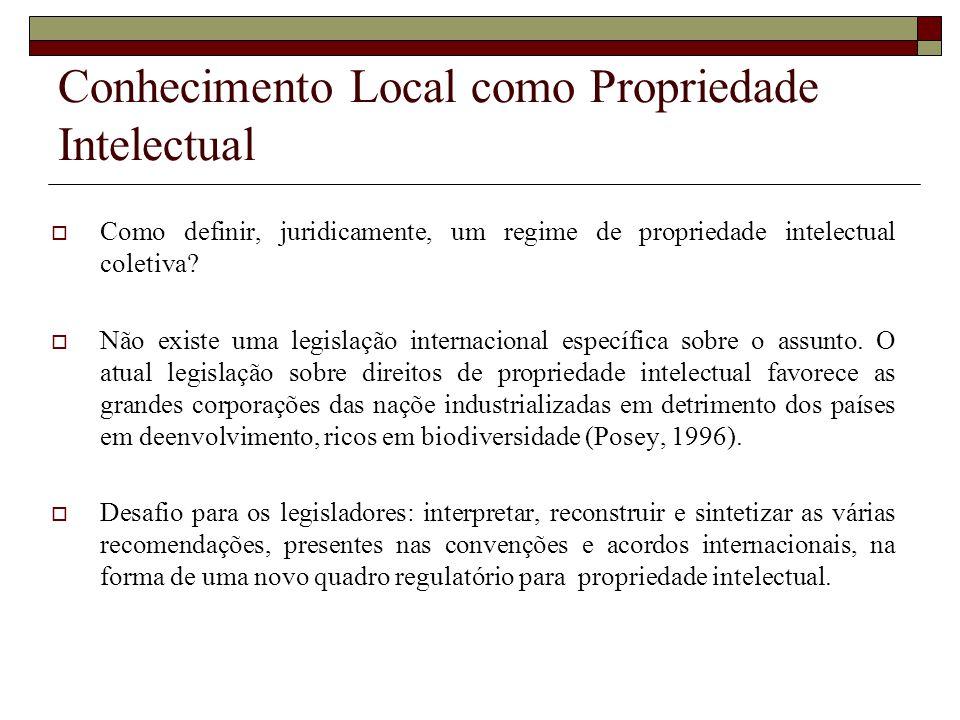 Conhecimento Local como Propriedade Intelectual