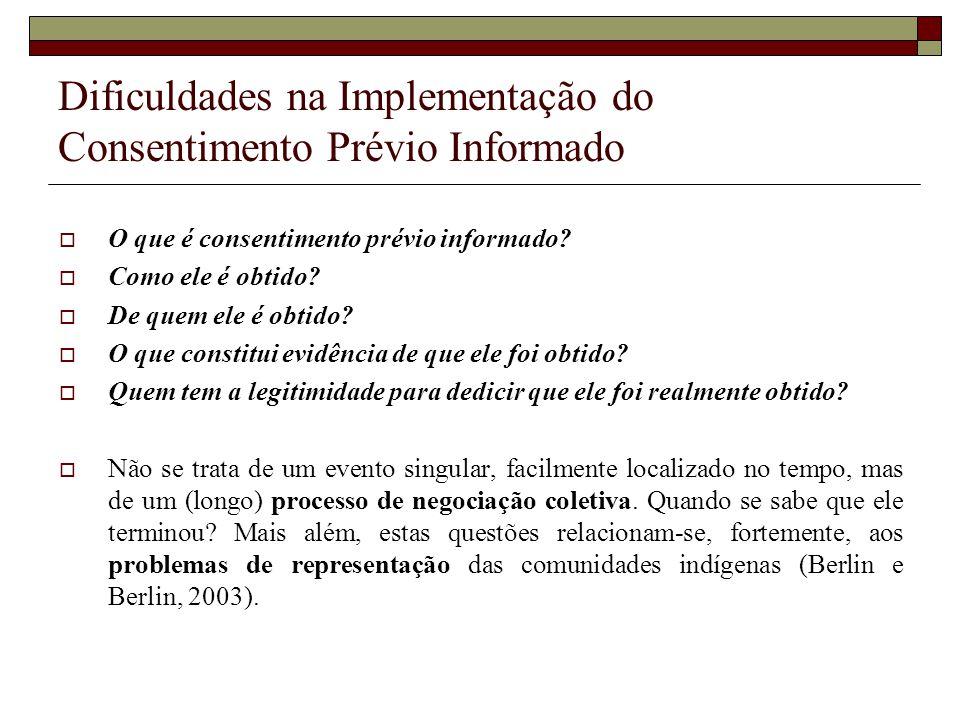 Dificuldades na Implementação do Consentimento Prévio Informado