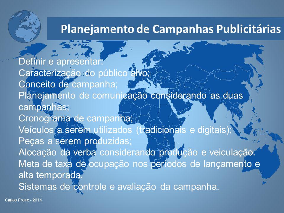 Caracterização do público alvo; Conceito de campanha;