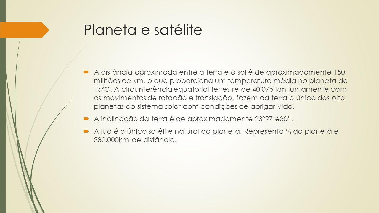 Planeta e satélite