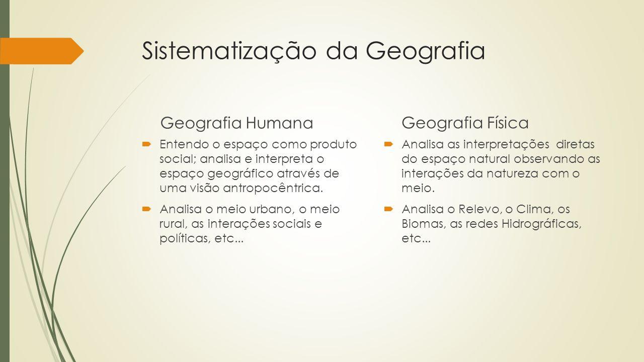 Sistematização da Geografia