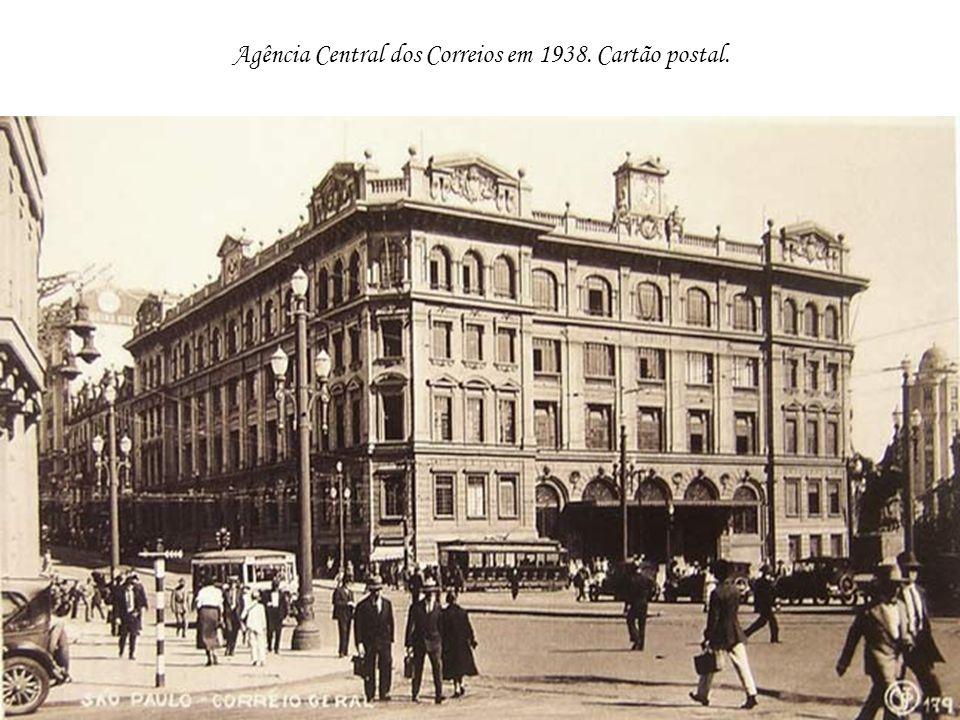 Agência Central dos Correios em 1938. Cartão postal.