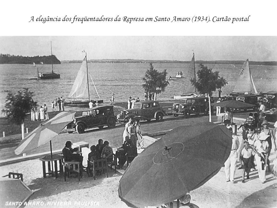 A elegância dos freqüentadores da Represa em Santo Amaro (1934)