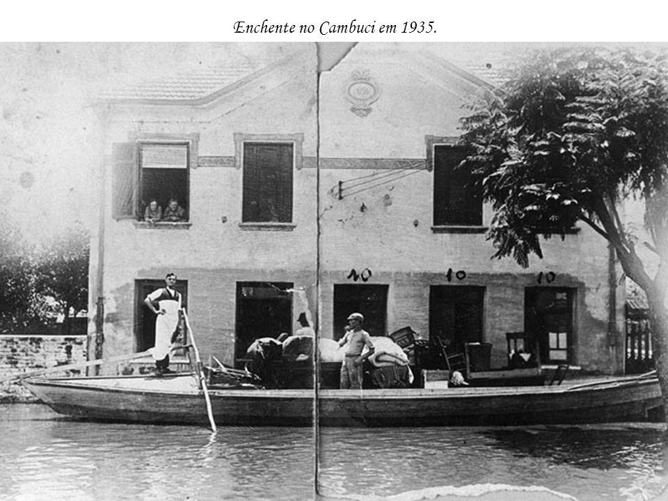 Enchente no Cambuci em 1935.