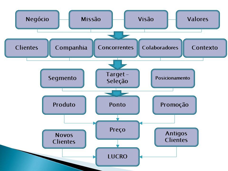Negócio Missão Visão Valores Clientes Companhia Contexto Segmento