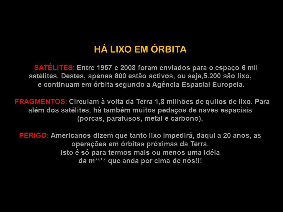 HÁ LIXO EM ÓRBITA