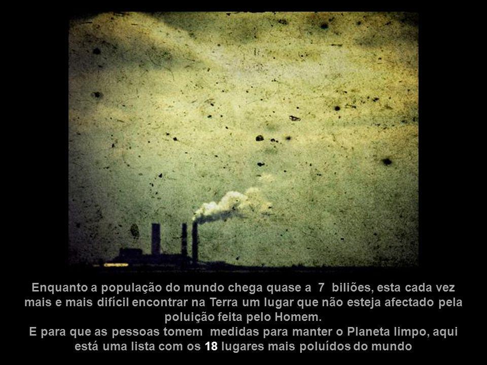 poluição feita pelo Homem.