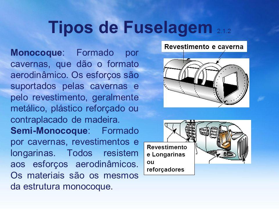 Tipos de Fuselagem 2.1.2 Revestimento e caverna.
