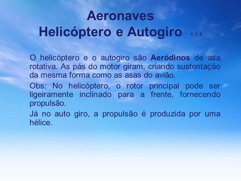 Aeronaves Helicóptero e Autogiro 1.1.1