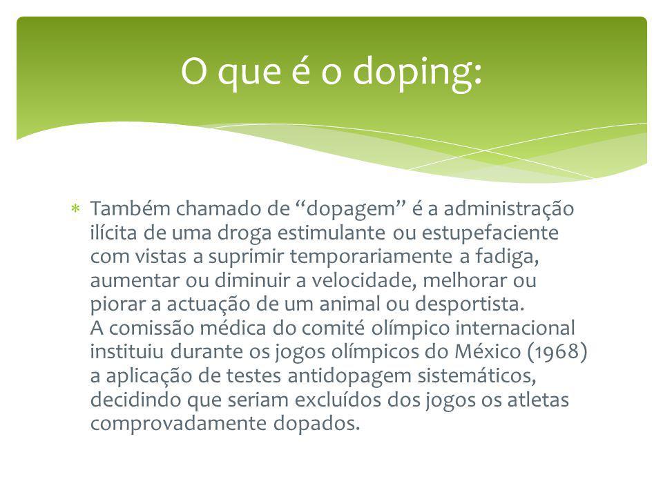O que é o doping: