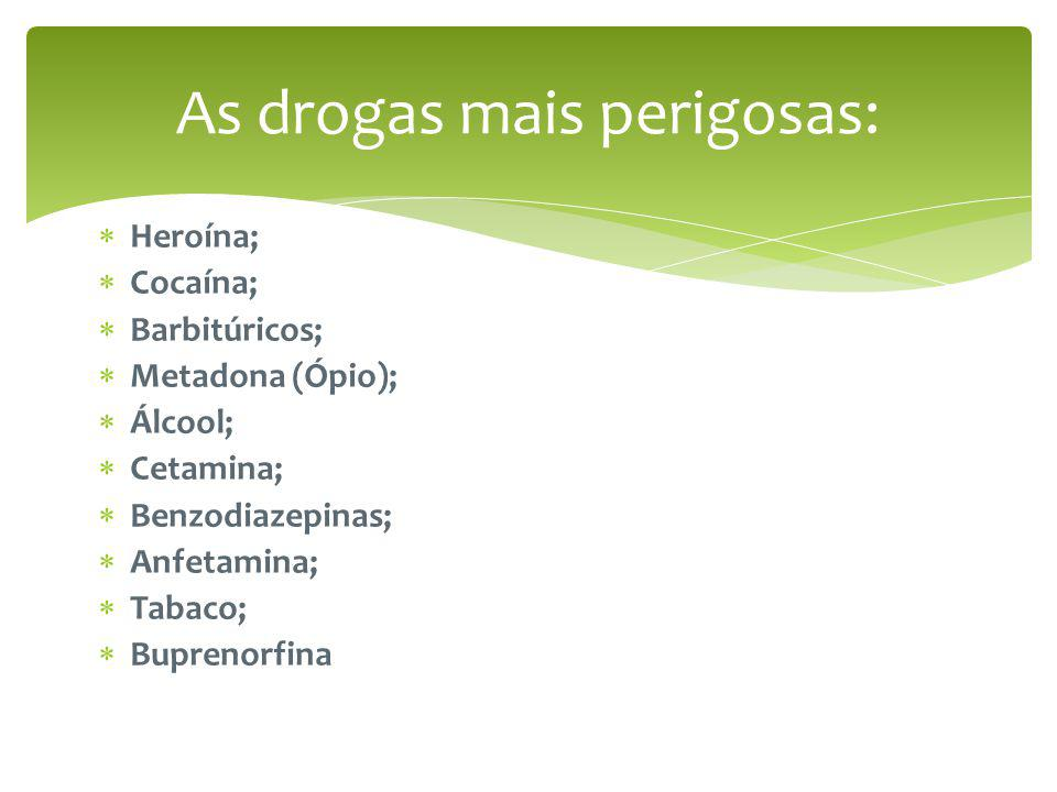 As drogas mais perigosas:
