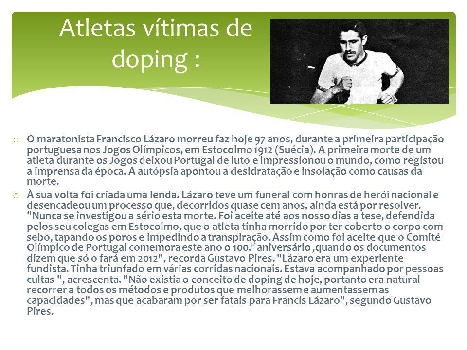 Atletas vítimas de doping :