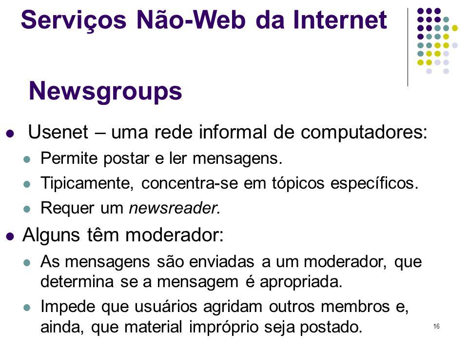 Serviços Não-Web da Internet