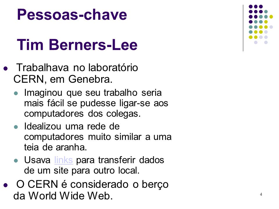 Pessoas-chave Tim Berners-Lee