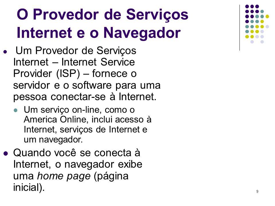 O Provedor de Serviços Internet e o Navegador