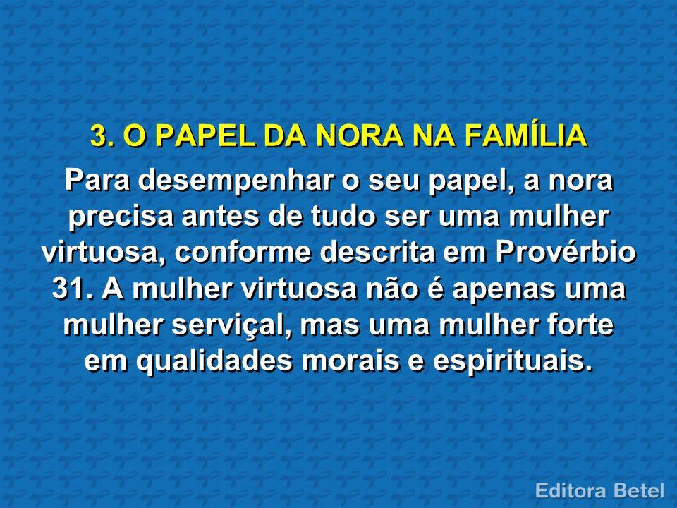 3. O PAPEL DA NORA NA FAMÍLIA