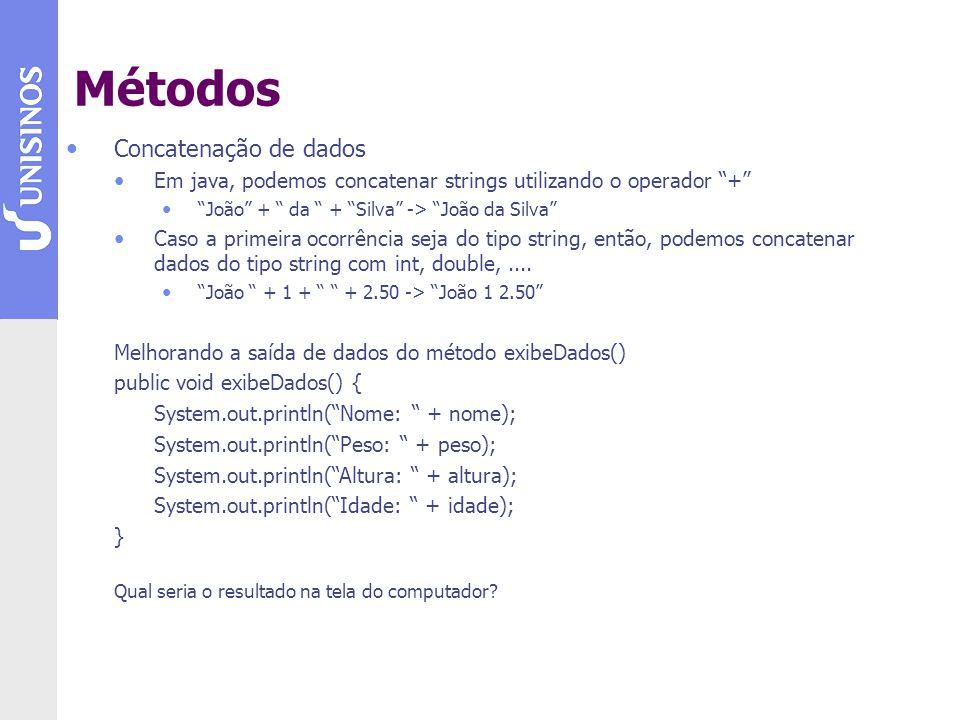 Métodos Concatenação de dados