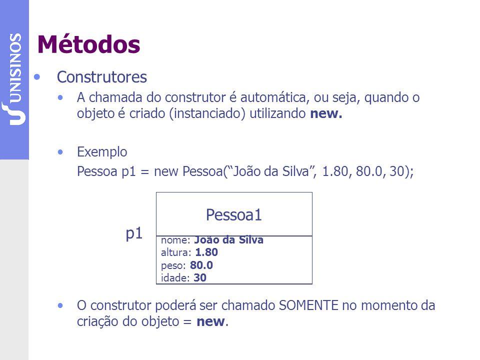Métodos Construtores Pessoa1 p1