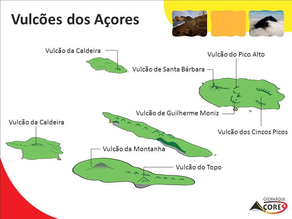 Vulcões dos Açores Vulcão do Pico Alto Vulcão de Santa Bárbara