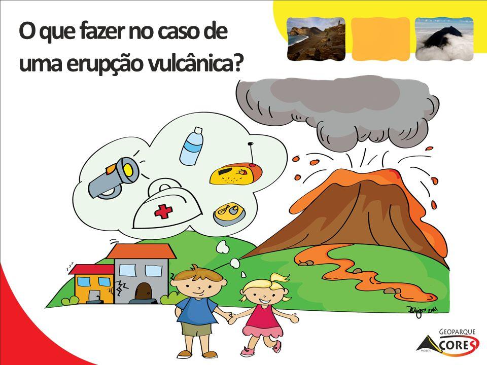 O que fazer no caso de uma erupção vulcânica