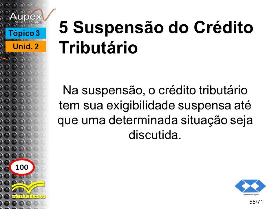 5 Suspensão do Crédito Tributário