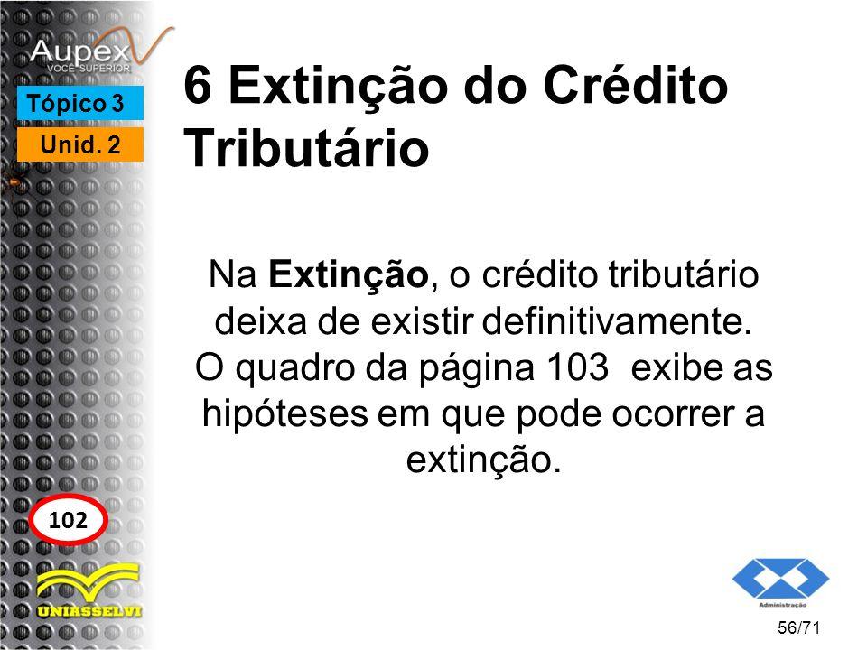 6 Extinção do Crédito Tributário