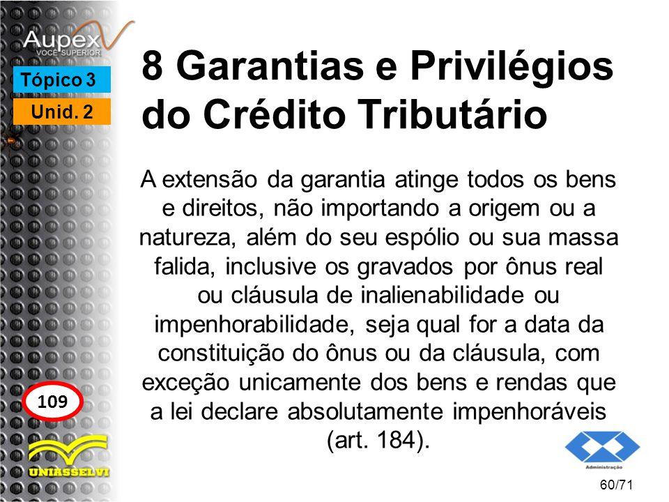 8 Garantias e Privilégios do Crédito Tributário