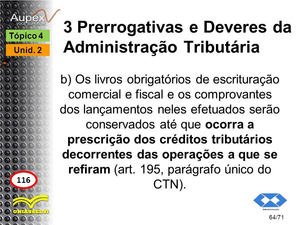 3 Prerrogativas e Deveres da Administração Tributária