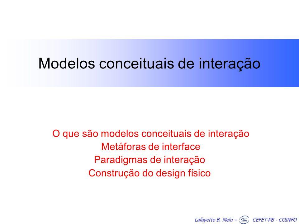 Modelos conceituais de interação