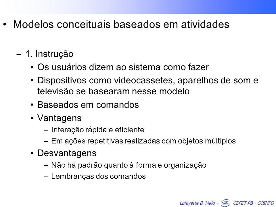 Modelos conceituais baseados em atividades