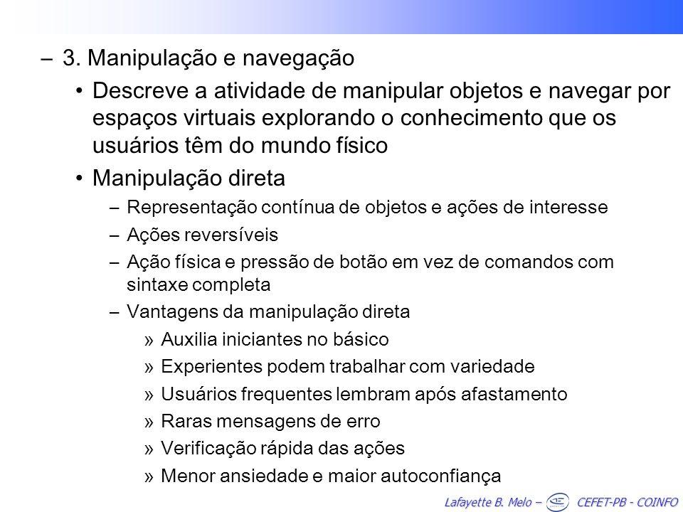 3. Manipulação e navegação