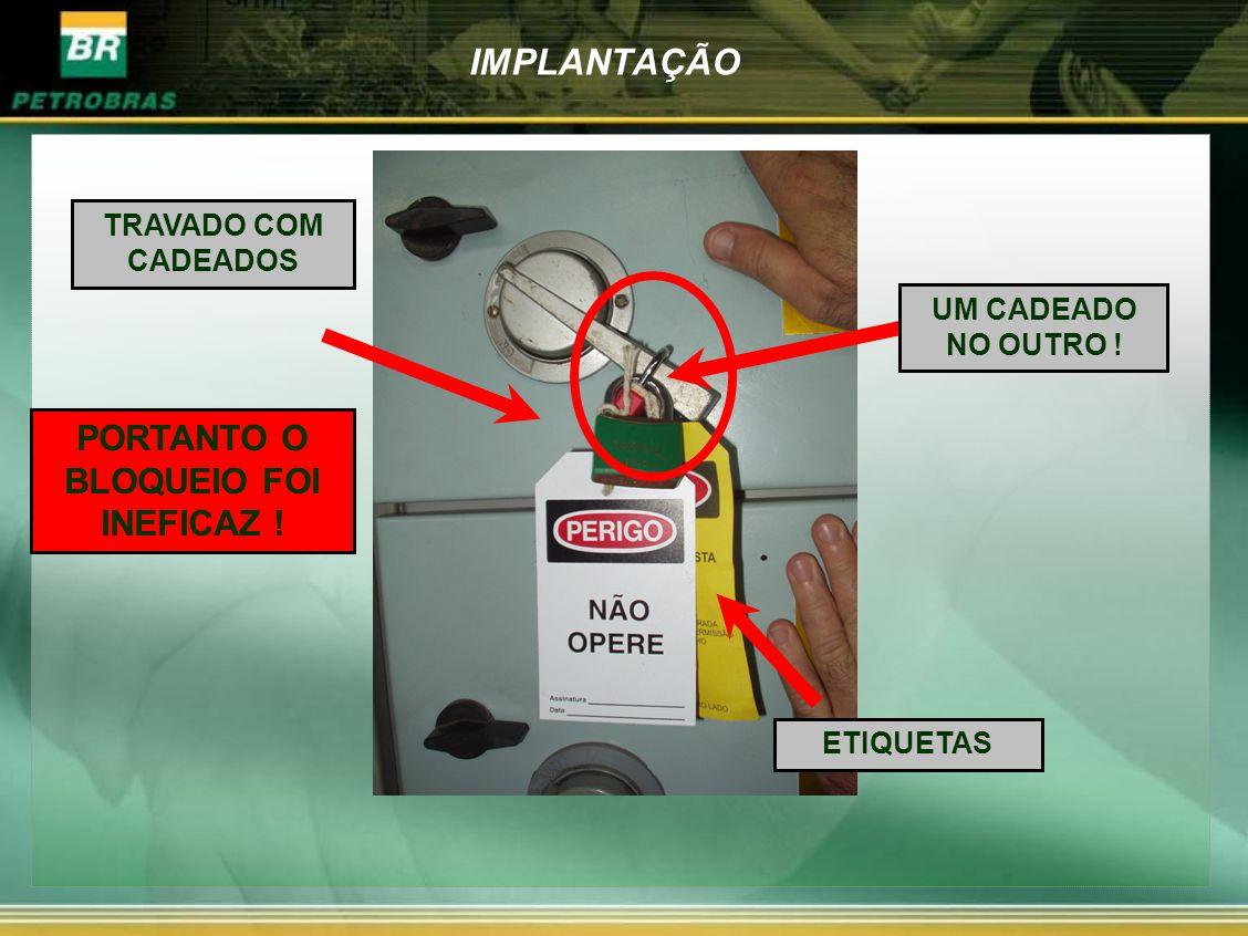 PORTANTO O BLOQUEIO FOI INEFICAZ !