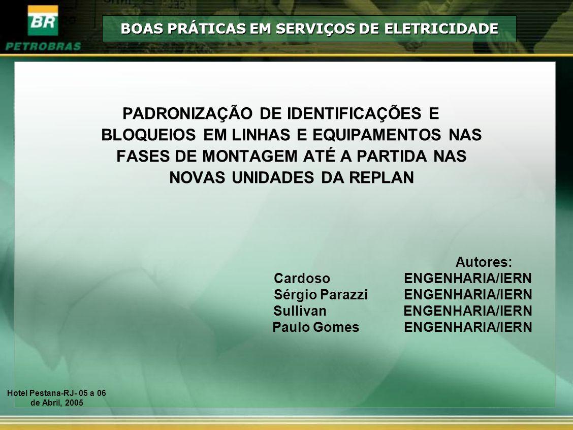 BOAS PRÁTICAS EM SERVIÇOS DE ELETRICIDADE