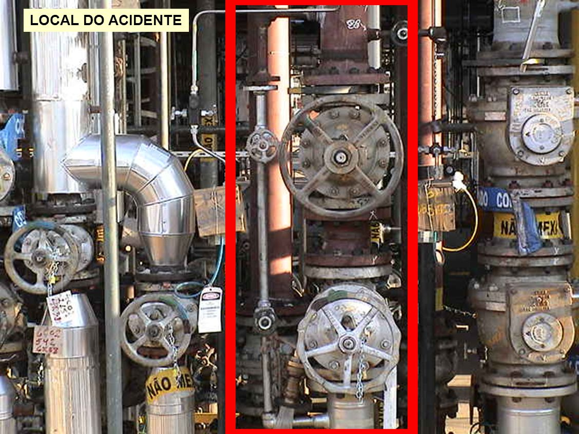 LOCAL DO ACIDENTE Neste limite de bateria (LB) seria feito um ajuste da tubulação.