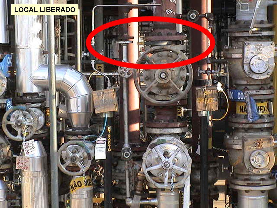 LOCAL LIBERADO Neste limite de bateria (LB) seria feito um ajuste da tubulação.