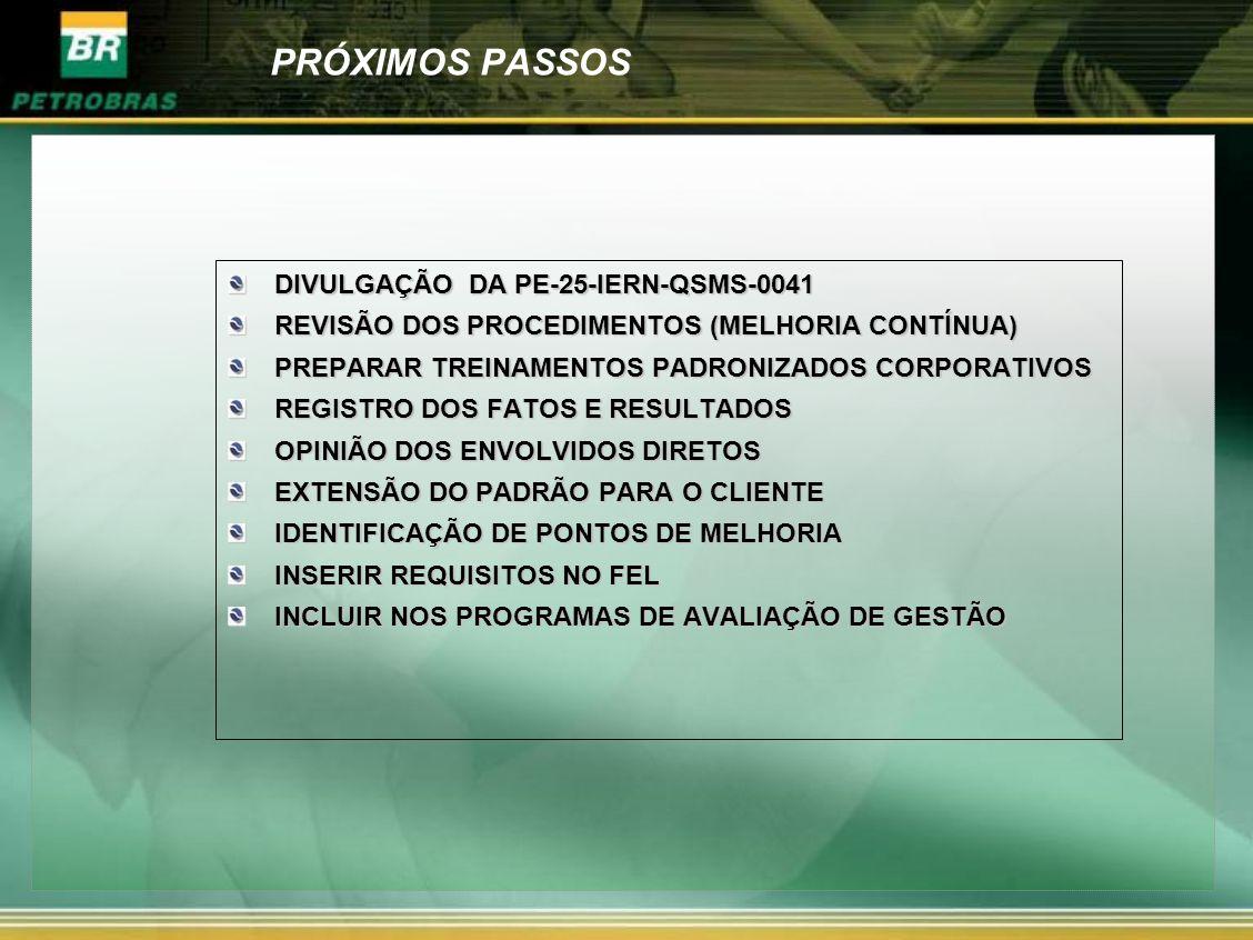 PRÓXIMOS PASSOS DIVULGAÇÃO DA PE-25-IERN-QSMS-0041