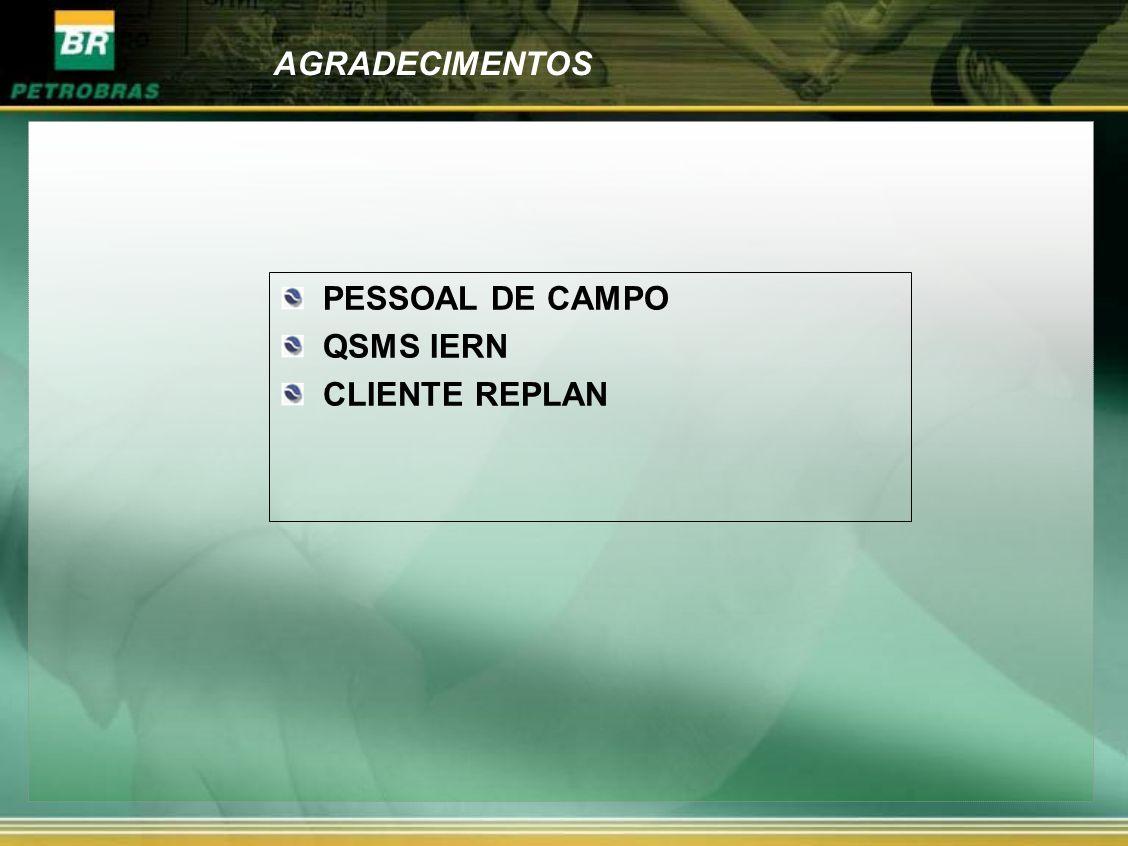 AGRADECIMENTOS PESSOAL DE CAMPO QSMS IERN CLIENTE REPLAN