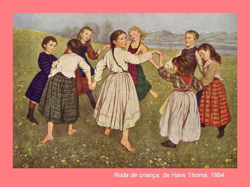 Roda de criança, de Hans Thoma, 1884.