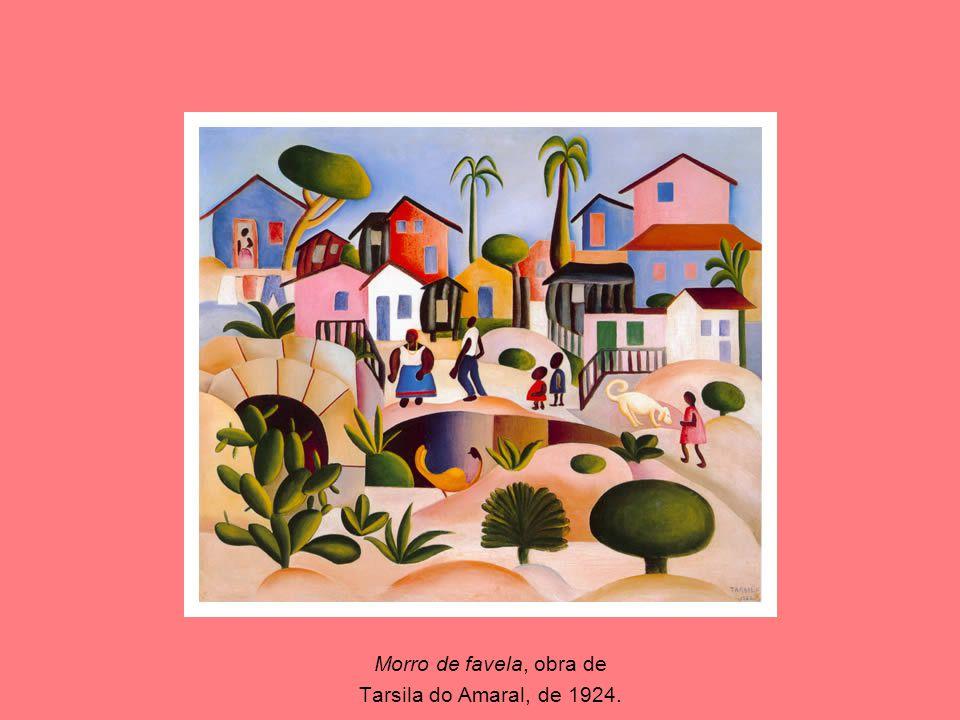 Morro de favela, obra de Tarsila do Amaral, de 1924.