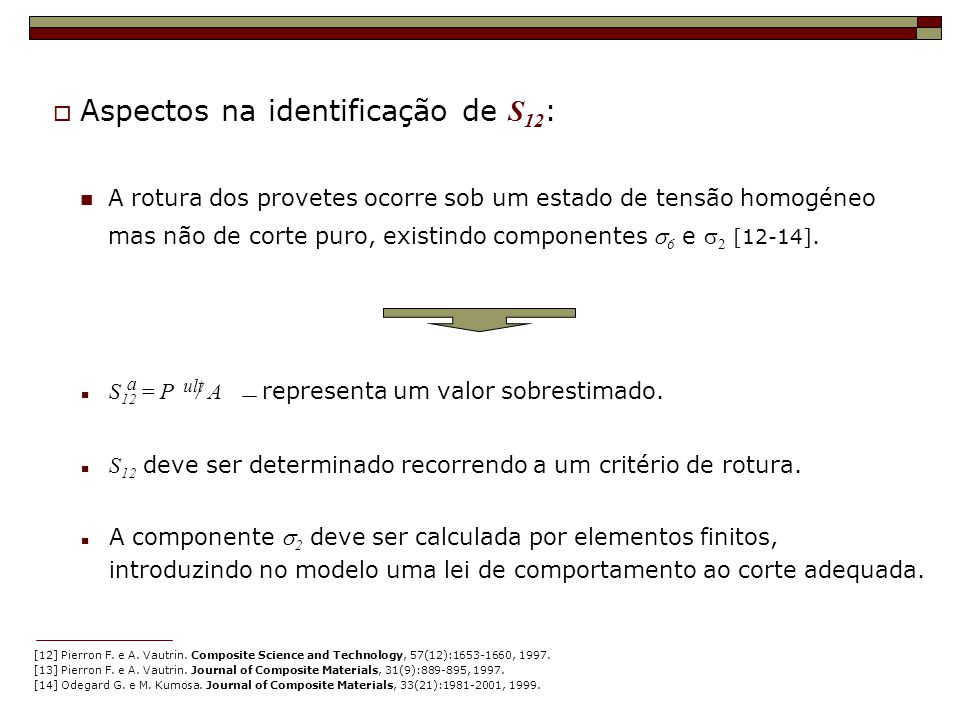 Aspectos na identificação de S12: