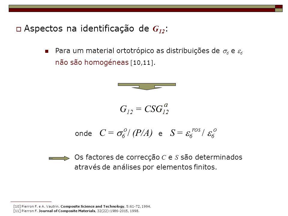 G12 = CSG12 G12 Aspectos na identificação de G12: a a o ros