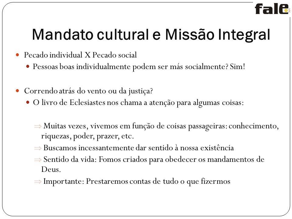 Mandato cultural e Missão Integral
