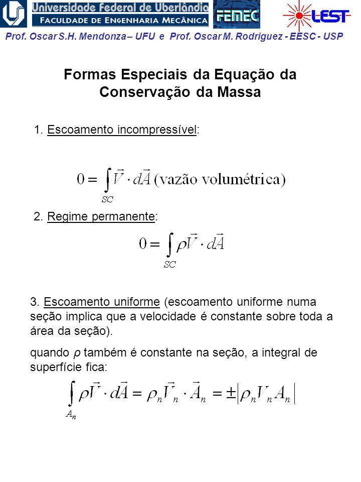 Formas Especiais da Equação da Conservação da Massa