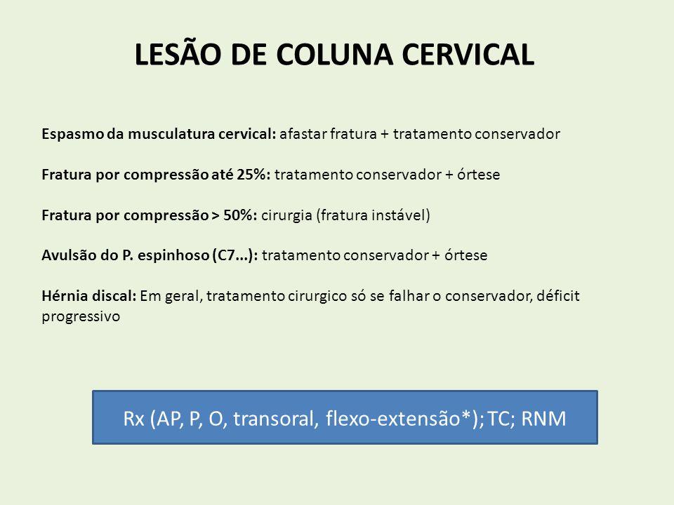 LESÃO DE COLUNA CERVICAL