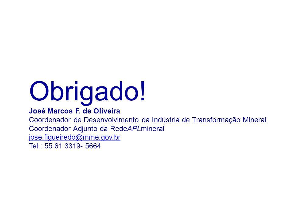 Obrigado! José Marcos F. de Oliveira
