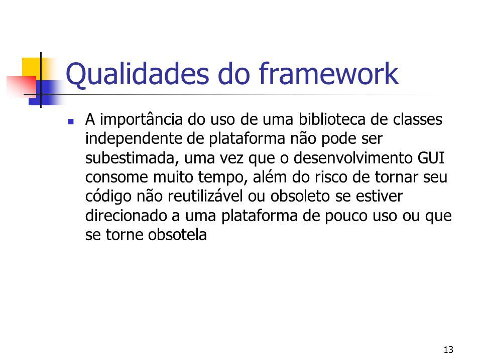 Qualidades do framework
