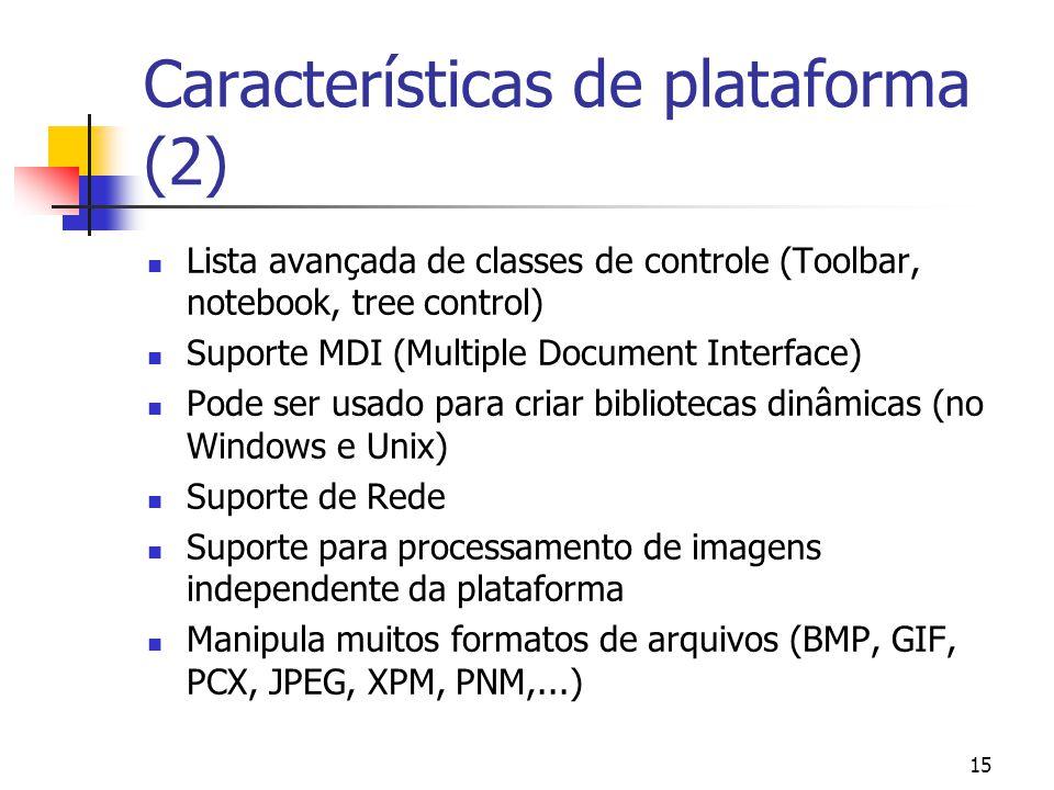 Características de plataforma (2)